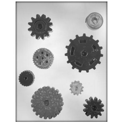 Gears Chocolate Candy Mold
